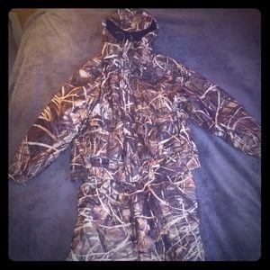 Field & Stream 2 piece coveralls & jacket + hood